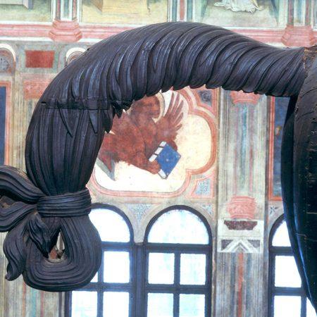 Coda del cavallo ligneo, Palazzo della Ragione, Padova